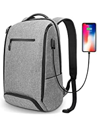 REYLEO Backpack Laptop Bag 15.6 Anti-Theft Water Resistant Computer Daypack For Business Work Travel College School