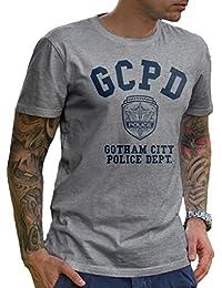 GCPD Gotham City Policía departamento Athletic gris – Camiseta de manga corta ...
