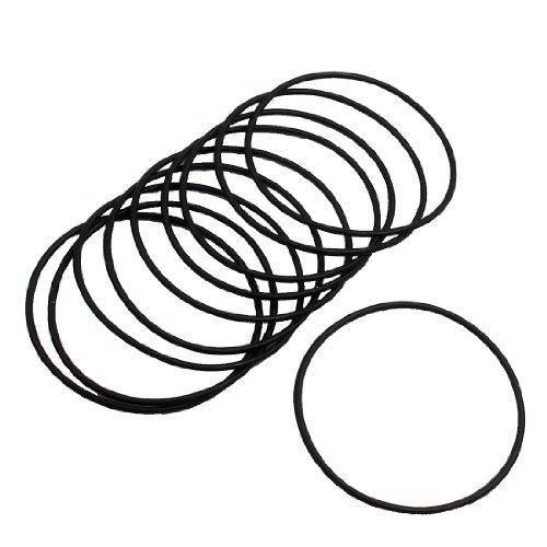 sourcingmapr-10-pcs-60mm-dia-2mm-filtre-epais-caoutchouc-o-anneau-black-seal