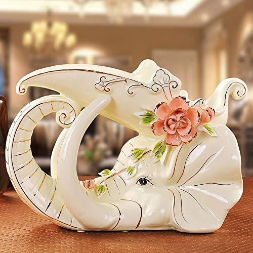 ZHAOJIANHUI Keramik Kreative Elefant Rotwein Halter Wohnkultur Handwerk Ornament Craft Room Hochzeit Dekoration Porzellan Tierfigur -