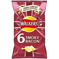 Walkers Smoky Bacon Crisps 6 X 25G by Walkers