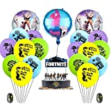 Fortnite Video Game Party Supplies Happy Birthday Cake Banners Topper Favors Foil Latex Balloons Video Gaming Party Theme Dec