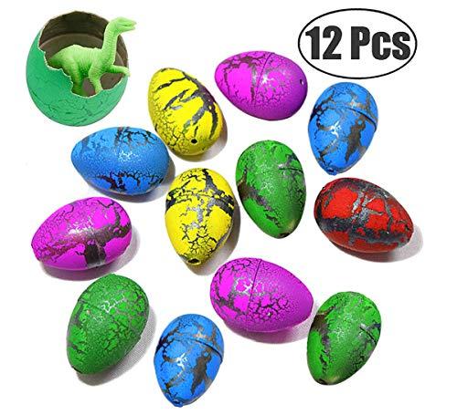 MAKFORT 12 Stück Ostereier Farben Magisch Dinosaurier-Ei Wasser Inkubieren Wachstum Dinosaurier Spielzeug Ostern Geschenk Für Junge und Mädchen