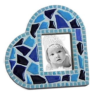 ALEA Mosaic Mosaik Bausatz Rahmen, Blaues Herz, 11x11CM