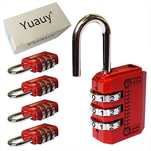Yuauy - Candado de combinación de 3 dígitos con contraseña para mal
