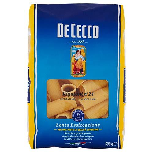De Cecco - Rigatoni n  24, Pasta di Semola di Grano Duro - 500 g