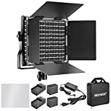 #6: Neewer Dimmable Bi-color 660 LED Video Light with Rechargeable 6600mAh Battery and Charger Lighting Kit: 3200-5600K, CRI 96+ with U Bracket and Barndoor for Camera Photo Studio YouTube Video Shooting