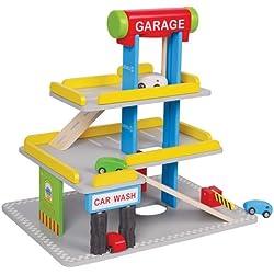 Garaje de 3 pisos - Juguetes de madera Classictoys