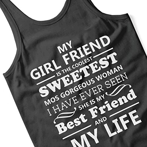 My Girlfriend Is The Coolest Men's Vest Black