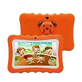 Tablet para Niños de 7 Pulgadas , 1GB RAM + 16GB , con Memoria Escalable ,Tablet Infantil con Android 8.1, Doble Cámara , con Funda de Silicona, Adecuado para Juegos Educativos. (Orange)