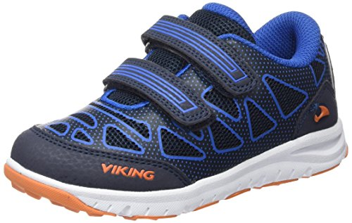 Viking Doenna Velcro, Unisex-Kinder Sneakers, Blau (Navy/Royal Blue 515), 33 EU (Velcro Navy Schuh Casual)