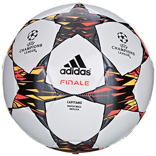 adidas Herren Ball Finale 2014 Capitano White/Solar Blue2 S14/Neon Orange 4 - Ball Adidas Fußball Neon