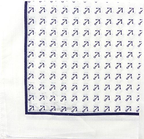 Nicki-Tuch weiss Motiv kleiner Anker blau Seemanns Bandana Maritim Marine keeper - anchor blue (weiss) 4433 (Erwachsene Blau Seemann Kostüme)