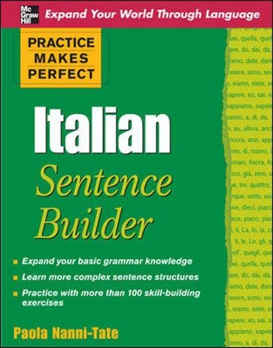 Italian sentence builder. Practice makes perfect