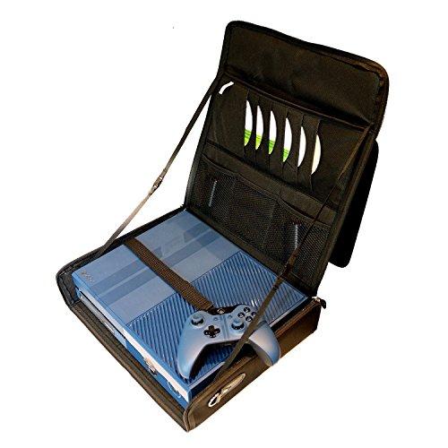 XBOX ONE KOMPATIBELE REISETASCHE. VERSTELLBAREN GEPOLSTERTEN SCHULTERRIEMEN (Gepolsterte Schulterriemen Verstellbare,)