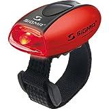 Sigma Sport Beleuchtung Micro - Rücklicht LED rot, permanent leuchtend/blinkend, 20 g, spritzwassergeschützt, Fahrradlampe, Sicherheits-Leuchte, Helmleuchte
