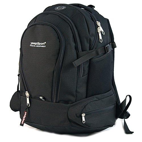 YeepSport Schulrucksack für Schule, Rucksack für Arbeit und Freizeit 26l, Jugendliche Mädchen und Jungs - 21606 Schwarz