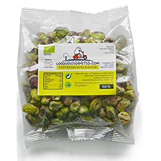 Pistachio Nuts Organic with Premium Quality from Spain (300g of raw Peeled Whole Organic Pistachios, Unsalted, Natural, Healthy and eco-Friendly), from Losquesosdemitio