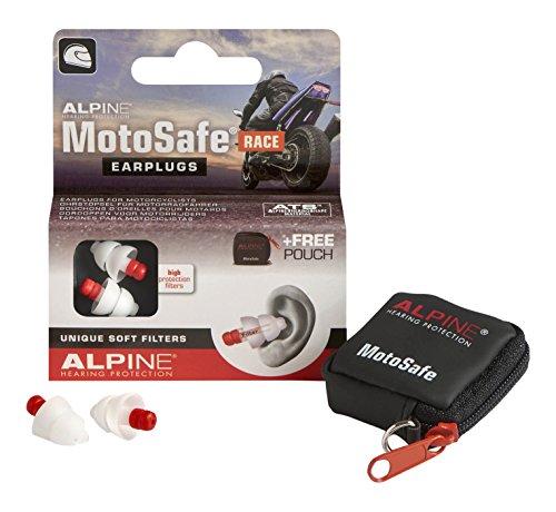 Alpine MotoSafe Race - Bouchons d'oreilles uniques pour motocyclistes