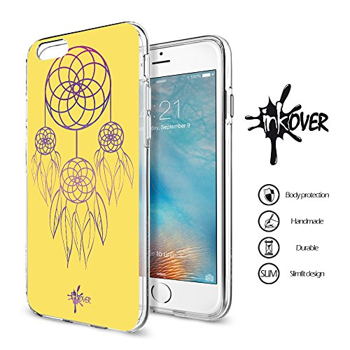 Cover iPhone 6 PLUS , Cover iPhone 6S PLUS - INKOVER - Custodia Cover Protettiva Guscio Soft Case Bumper Trasparente Sottile Slim Fit Tpu Gel Morbida INKOVER POKER DESIGN Carte Gioco Azzardo Texas Hol DREAMCATCHER 1