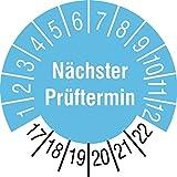 te-office 84pieza sello Calidad Etiqueta Control actualizado prüftermin 17–22Cian sobre 7Arco 30mm Diámetro laminado resistente al abrasione
