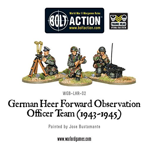 Warlord Games Bolt Action Ww2 War German Heer Forward Observation Officer Team