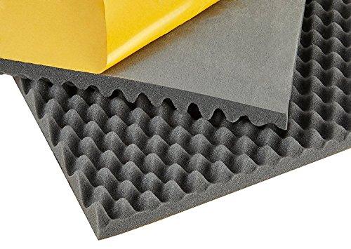 kummert Business insonOrisantes haumm Tapis de mousse acoustique, mousse à picots, structure, autocollant d'onde (1000 x 500 x 10 mm/40 mm)
