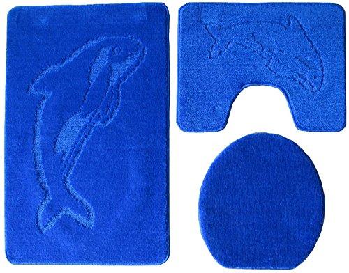 Ilkadim Baño 3Piezas 100x 60cm Color Azul Oscuro