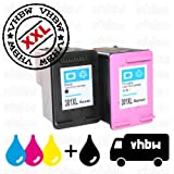 vhbw 2X kompatible Ersatz Tintenpatrone Druckerpatrone Set für Drucker HP Envy 4507, 4508, 5532, 5534, 5536