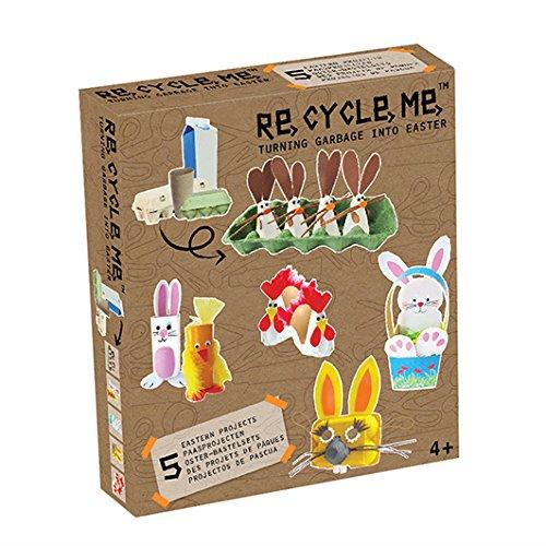 Re Cycle Me DEFG1230 Recycling Bastelspaß Ostern Special Edition, Bastelset für 5 Modelle, Kreativset für Kinder ab 4 Jahre, Set zum Basteln mit Haushaltsmaterialien, Recycle Mich, Bastelmix