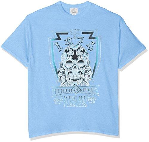 Minted Fashion Herren Slim Fit T-Shirt Blau - Carolina Blue