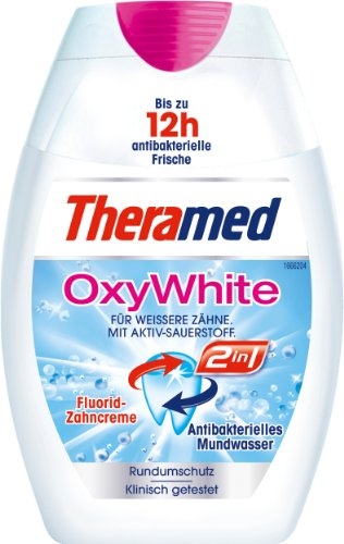 Theramed 2in1 2in1 OxyWhite , 3er Pack (3 x 75 ml)