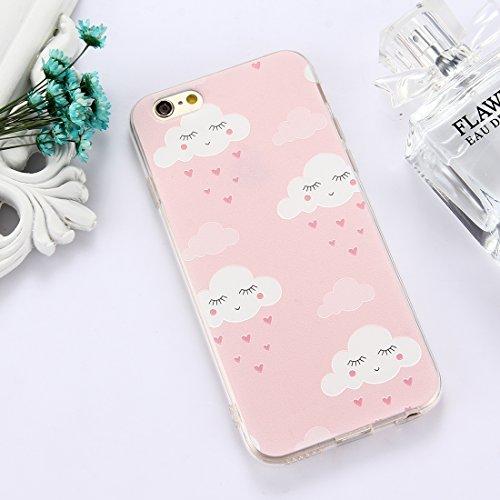 Phone Case & Hülle Für iPhone 6 Plus und 6s Plus TPU geprägte transparente Wassermelone Muster Drop-Schutz-Schutzhülle Rückseite ( Size : Ip6p5301l )
