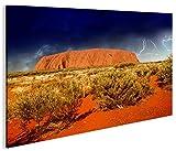 islandburner Bild Bilder auf Leinwand Ayers Rock V2 Australien 1p XXL Poster Leinwandbild Wandbild Dekoartikel Wohnzimmer Marke