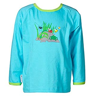 JNY Colourful Kids Girls' Animal Print Long-Sleeved Top Turquoise Turquoise - Turquoise - 6 Years