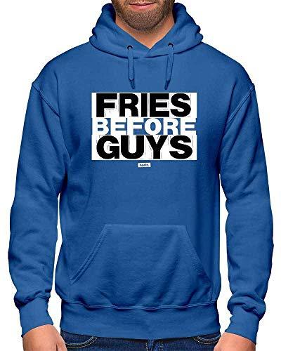 Kostüm Guy Nerd - HARIZ Herren Hoodie Fries Before Guys Sprüche Schwarz Weiß Inkl. Geschenk Karte Royal Blau M
