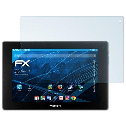 atFolix Schutzfolie kompatibel mit Medion LIFETAB P8912 MD99066 Folie, ultraklare FX Bildschirmschutzfolie (2X)