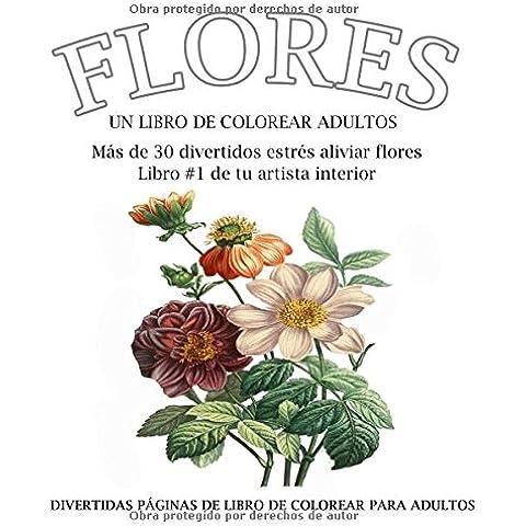 Flores: colorear libro en Español
