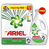 Ariel Matic Front Load Detergent Combo (Powder + Liquid) – 4 + 2 KG Washing Powder with 1 Liter Matic Liquid Free - Pantry