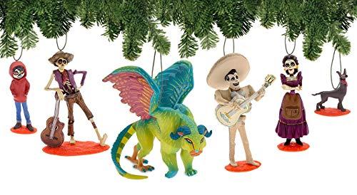 Disney Pixar Coco Deluxe Weihnachtsdekorationsset, 6-teilig, Motiv: Tag der Toten, Dia de Los Muertos