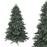 RS Trade 120 cm PE Spritzguss Weihnachtsbaum, Exklusiv und Hochwertig mit 100% Spritzgussnadeln (Schwer entflammbar) mit Metallständer, Schneller Aufbau durch Klappsystem, ca. 1265 Spitzen