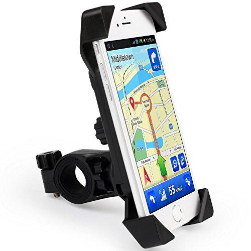 Forfar Supporto per manubrio bicicletta per Apple iPhone 6 Plus/6S, da 5/5s, Samsung Galaxy S3 S4 S5 Note 3, 4, nota 5, tutti i dispositivi per Smartphone, navigatore GPS per moto, bicicletta per telefono cellulare, colore: nero