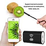 Akozon Endoscopio WiFi USB, 720P IP68 6LED 8 mm Cámara de alta definición, para PC Tableta Android Smartphone y IOS, iPhone(10m)