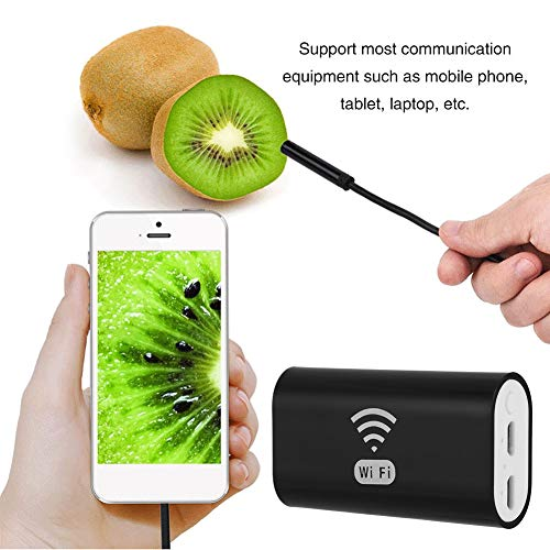 Akozon Endoscopio WiFi USB, 720P IP68 6LED 8 mm Cámara de alta definición, para PC Tableta Android Smartphone y IOS, iPhone(10m)