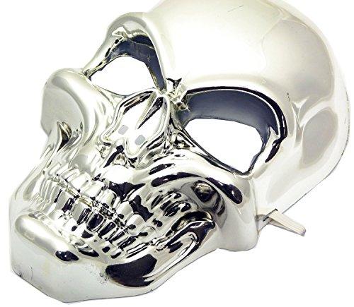Nick and Ben Skelett Maske Silber mit -