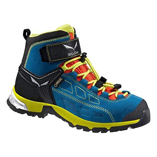 Salewa Alp Player Mid Gore-Tex - Halbhoher Bergschuh Kinder, Unisex-Kinder Trekking- & Wanderstiefel, Blau (Crystal/Citro 2412), 31 EU (12.5 Kinder UK) (Junior-mädchen Freizeitschuhe)