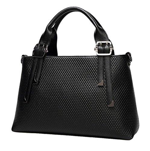 Handtasche Handtaschen Einfache Farbe Einzigen Schulter Schrägen Damen Großen Tasche Reißverschluss Lässig Black