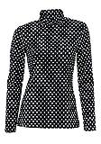 Rollishirt Langarmshirt Damen von Ashley Brooke - Schwarz Gr. 40