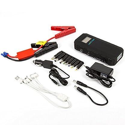 Uvistare Jump Starter Batería Arrancador de Coche con la Antorcha del LED (500A, 12000mAh, Diseño Delgado, Ultra Slim, Portátil, Batería Externa, Pantalla LCD) para la Tableta del Teléfono y ect