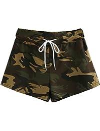 Sunenjoy Short Imprimé Camouflage Femme Été Casual Basique Sport Taille  Haute Sexy Yoga Coton Pantalons Court d9ee43353f5